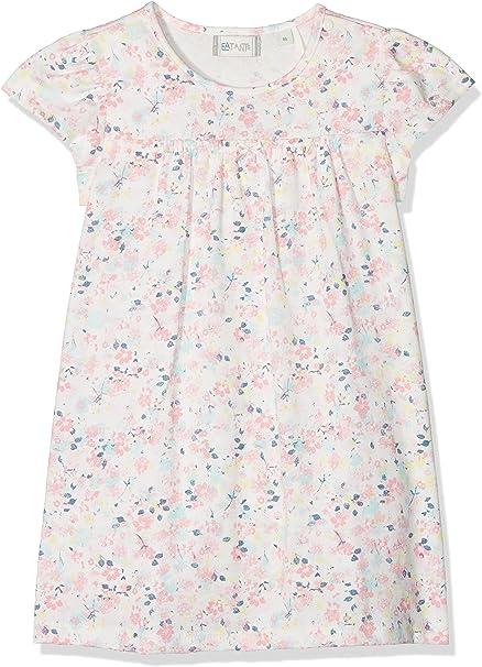 Sanetta Baby-M/ädchen Ivory Wundersch/önes Kleid feinen Bl/ümchen-Allover Fiftyseven