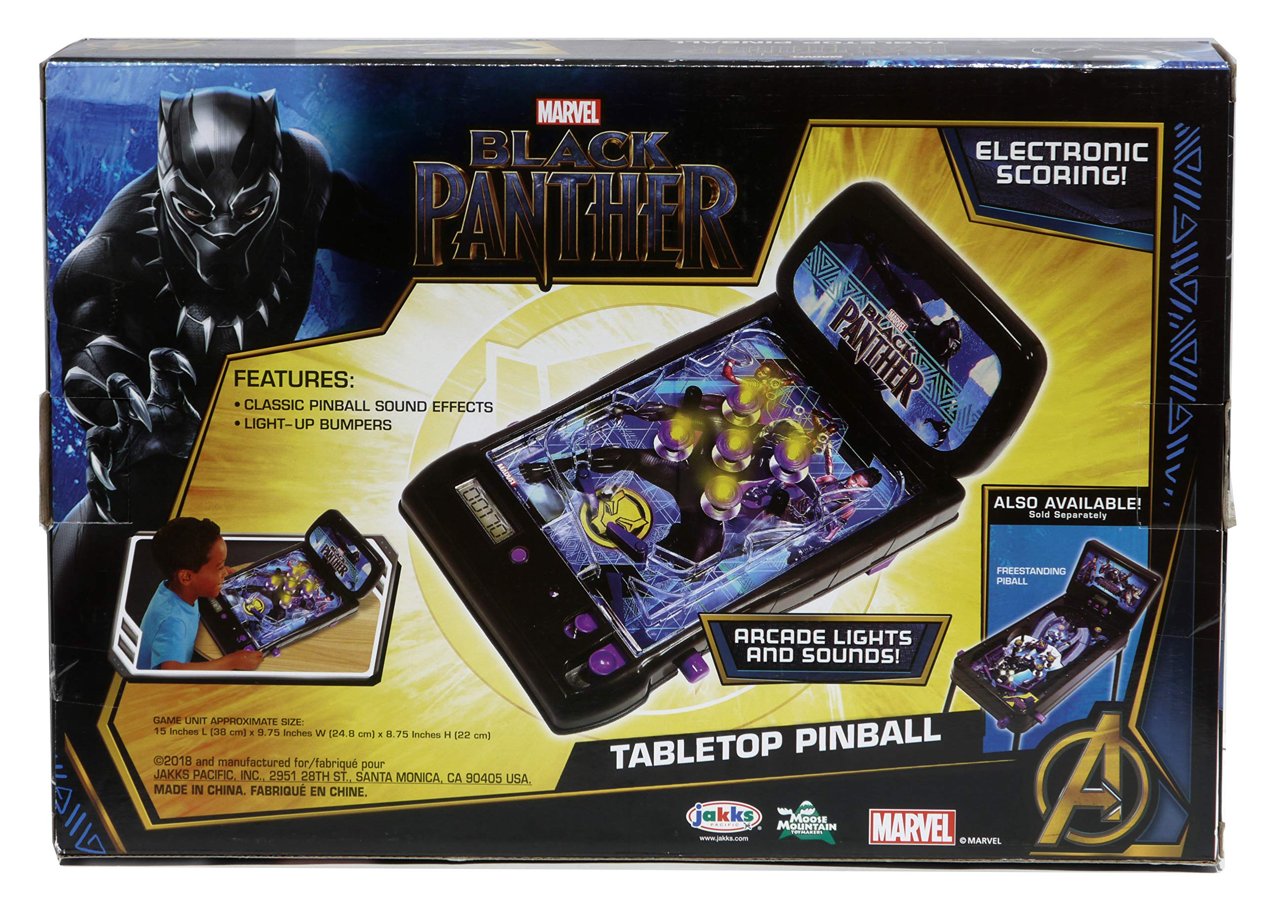 Black Panther Electronic Tabletop Pinball Machine by Marvel