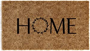 Barnyard Designs 'Home' Doormat, Indoor/Outdoor Non-Slip Rug, Front Door Welcome Mat for Outside Porch Entrance, Home Entryway Farmhouse Decor, 30