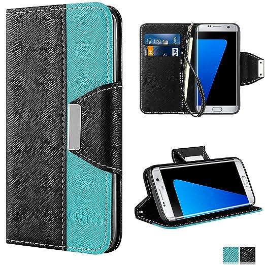 17 opinioni per Galaxy S7 Edge Custodia- Vakoo Samsung Galaxy S7 Edge Cover flip a portafoglio