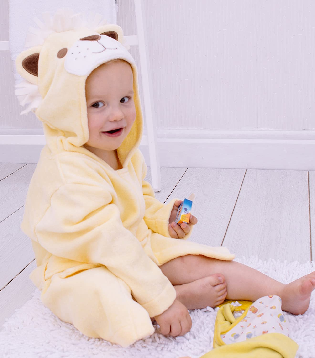Bathing Bunnies Hooded Lion Bath Robe Cotton for 1-3 Year Old Surrey AT Company Ltd 760415LTR