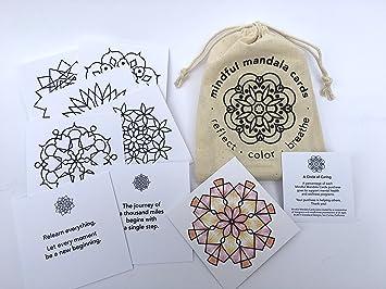 Amazon.com: Consciente Mandala Tarjetas: Conjunto de 24 ...