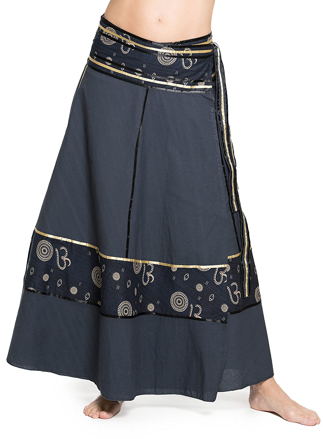 Ufash Wrap-Around Skirt Goa Gipsy - Colorful Maxi Skirt from India, with Ties - Many Different Designs