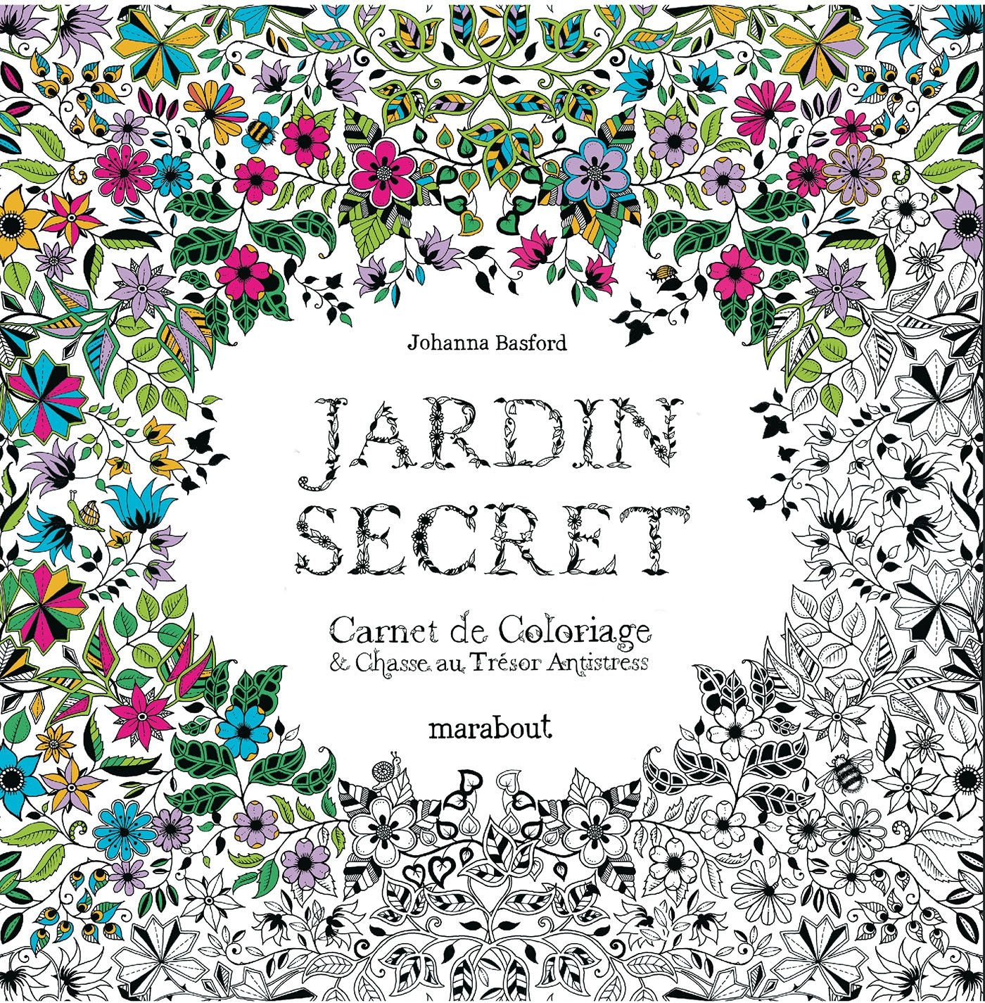 coloriage anti stress jardin secret