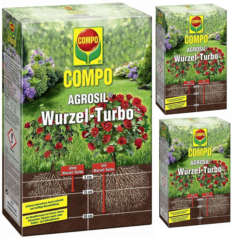 3 x 700 g Compo agrosil raíz de Turbo Hierro Fertilizante soluble ...