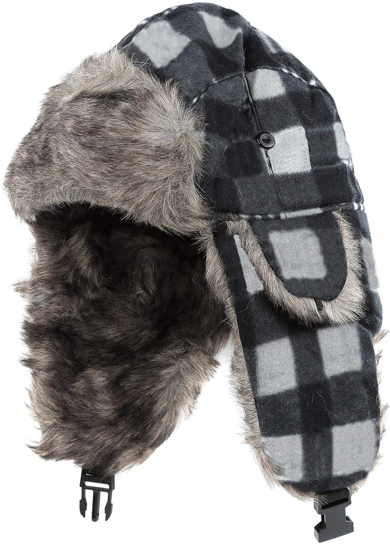 Sakkas caeleユニセックス耳フラップFauxファー裏地Chinバックルストラップ冬Trooper Hat One Size グレー B01LW3U9IV