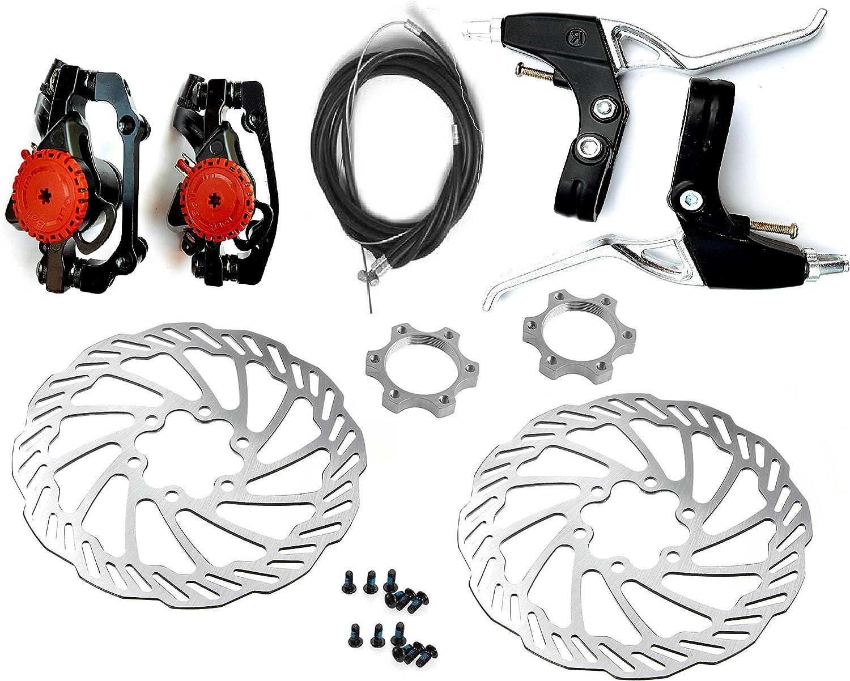 Mechanical Disc Brake Bike Cycling Bicycle Front Rear Caliper Rotors FBDS