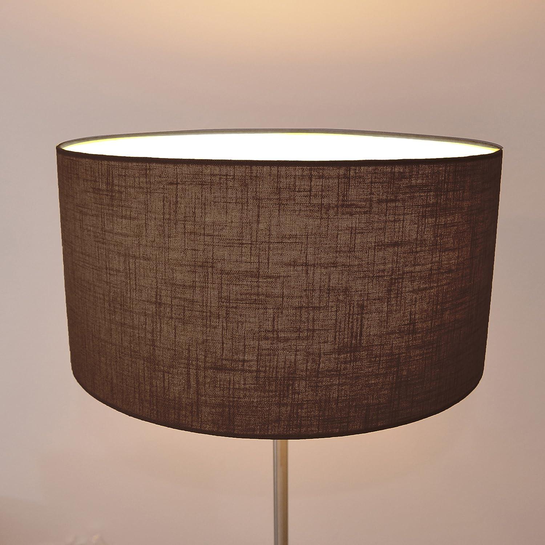 Lampenschirm handgemacht 40 cm Durchmesser aus Leinen//Braun