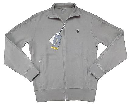 Polo Ralph Lauren Men\u0027s Performance Full Zip Ribbed Knit Sweater (S, Soft  Grey)