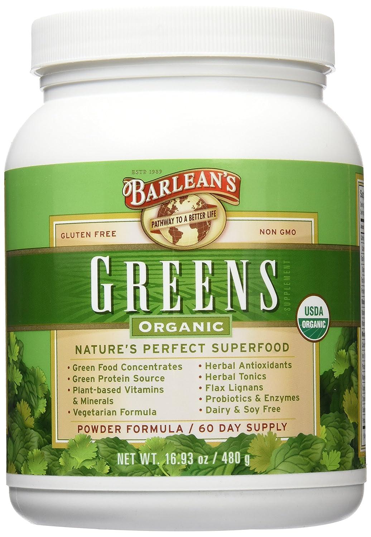 Barlean s Organic Oils Barlean s Greens, 16.93-Ounce Jar