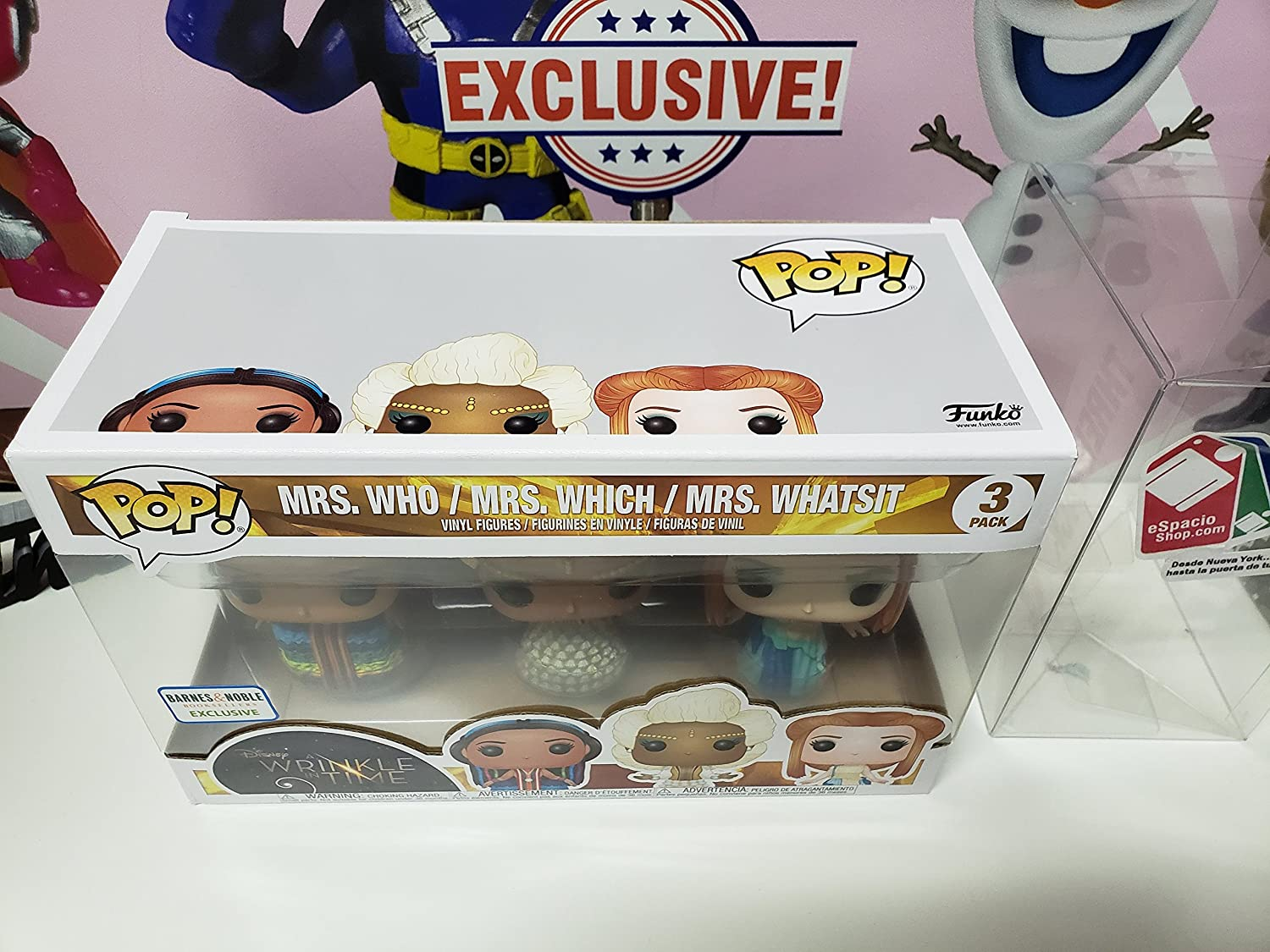 Whatsit Vinyl Figure Mrs Bundled with Pop BOX PROTECTOR CASE Disney: A Wrinkle in Time Funko Pop
