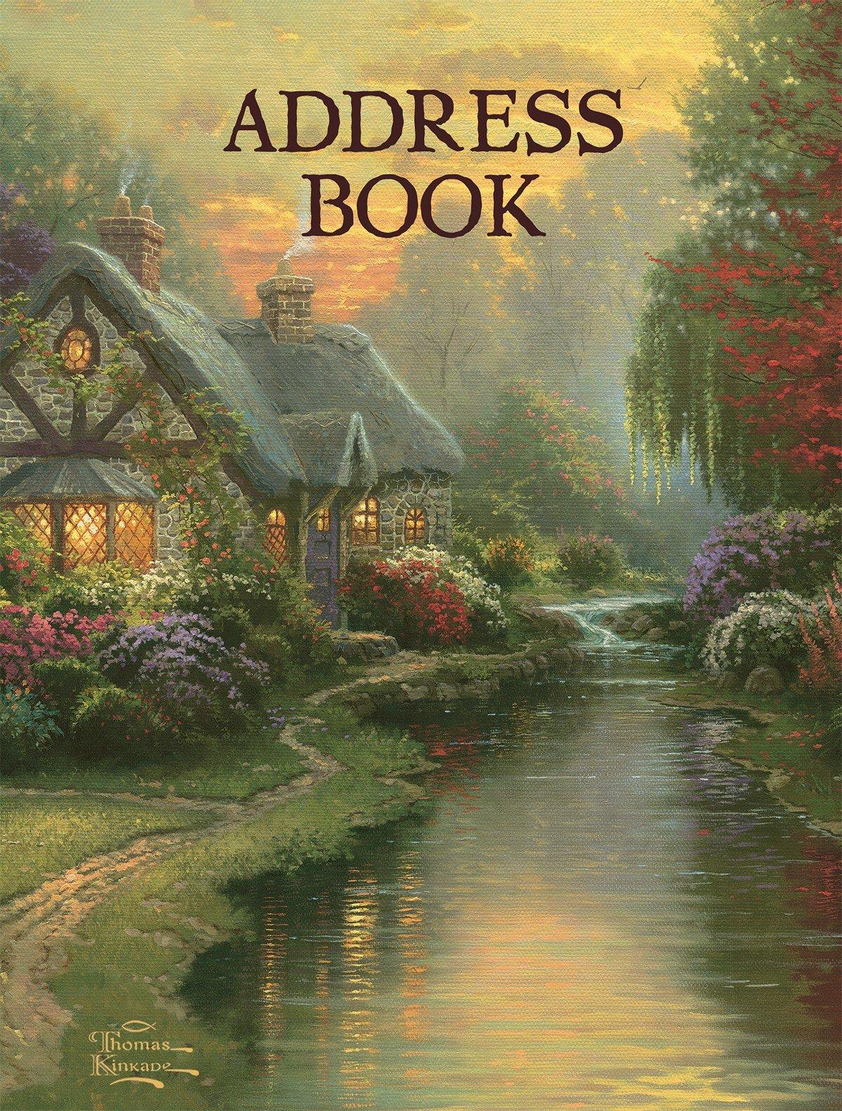 LANG - Address Book - ''A Quiet Evening'' - Art by Thomas Kinkade - 3-Ring - Refillable - 6 1/2'' x 8 1/2''