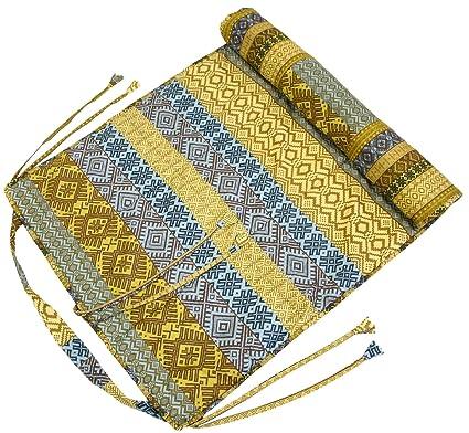 Amazon.com : ShalinIndia Reversible Yoga Mat 300 GSM Cotton ...