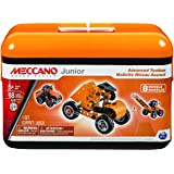 Meccano Junior - Advanced Toolbox, 8 Model Building Set, 88 Pieces, For Ages 5+, STEM Construction Education Toy
