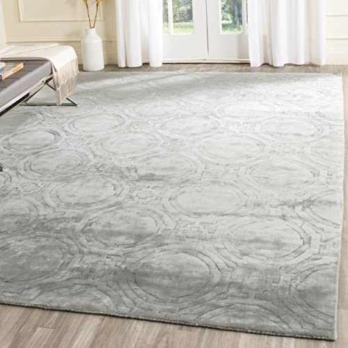 Safavieh Mirage Collection MIR337B Handmade Viscose Area Rug, 8 x 10 , Blue
