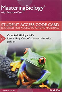 Amazon campbell biology 10th edition 8601415659009 jane mastering biology with pearson etext standalone access card for campbell biology fandeluxe Image collections