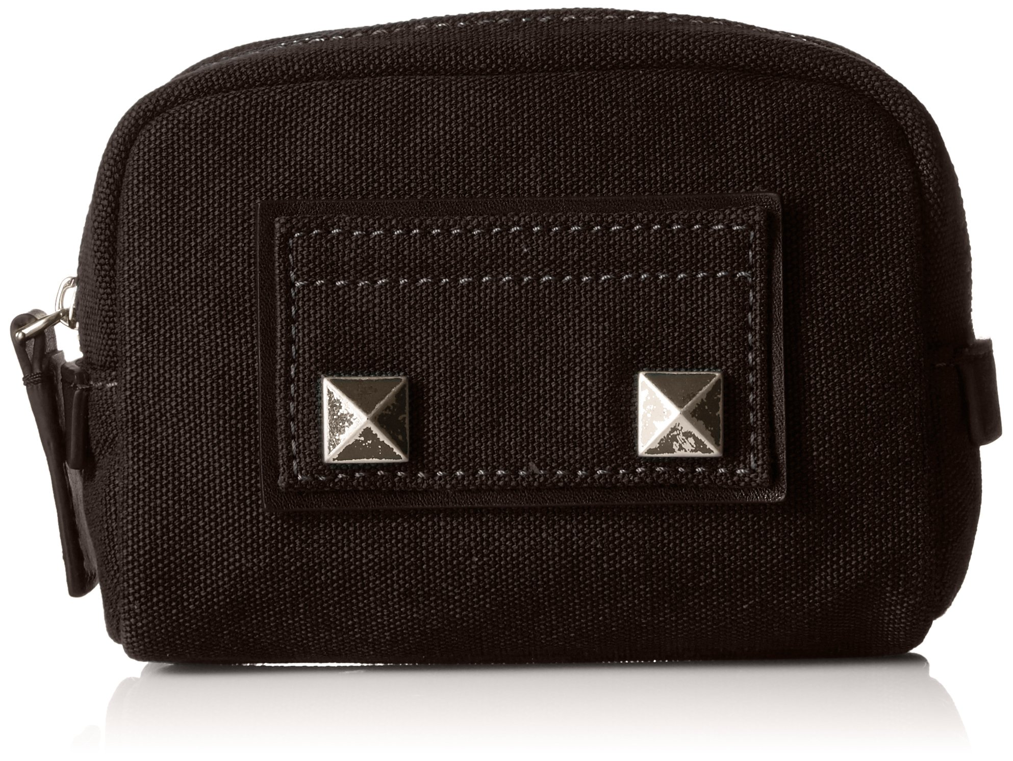 Marc Jacobs Small Canvas Chipped Studs Cosmetics Case, Black