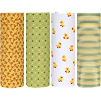 Cuddles & Cribs Cotton Flannel Receiving Blankets - Pack of 4