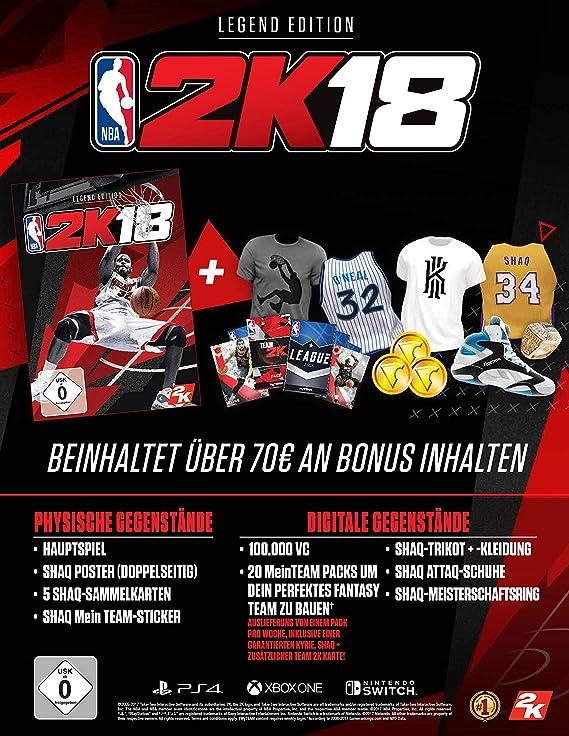 NBA 2K18 - Legend Edition - Nintendo Switch [Importación alemana]: Amazon.es: Videojuegos