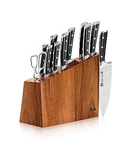 Cangshang S Series 60140 12-Piece German Steel Forged Knife Block Set