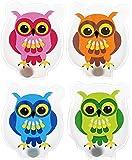 Lot de 4 chauffe-mains & cOLOURFUL oWLS