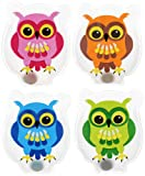 Hand & Pocket Warmers Set of 4 Colourful Owls