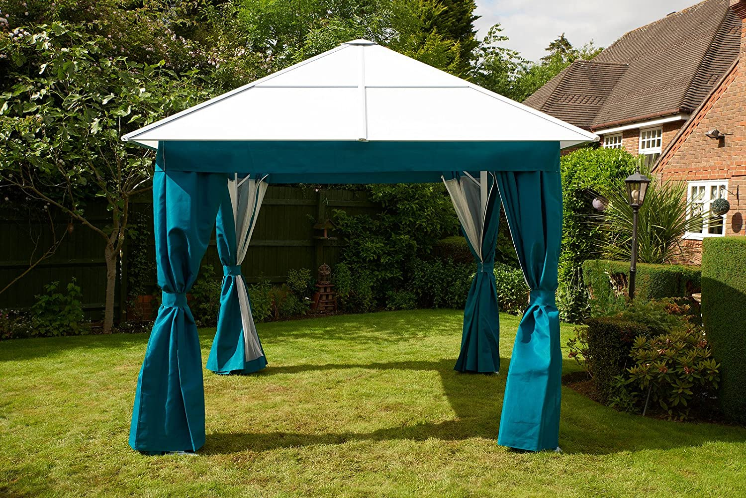 Policarbonato aluminio All Weather permanente Gazebo 3 x 3 m color ...