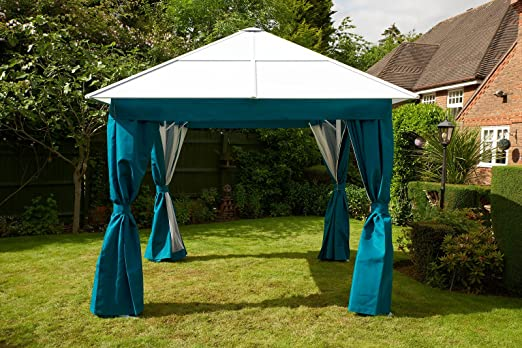 Policarbonato aluminio All Weather permanente Gazebo 3 x 3 m ...
