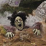 Zombie schreiend Bodendeko für Horror Grusel oder Halloween Party mit LED Augen Palandi®