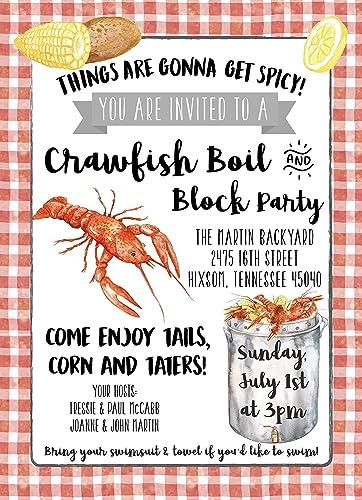 Amazon Com Crawfish Boil Custom Invitation Digital Or Prints