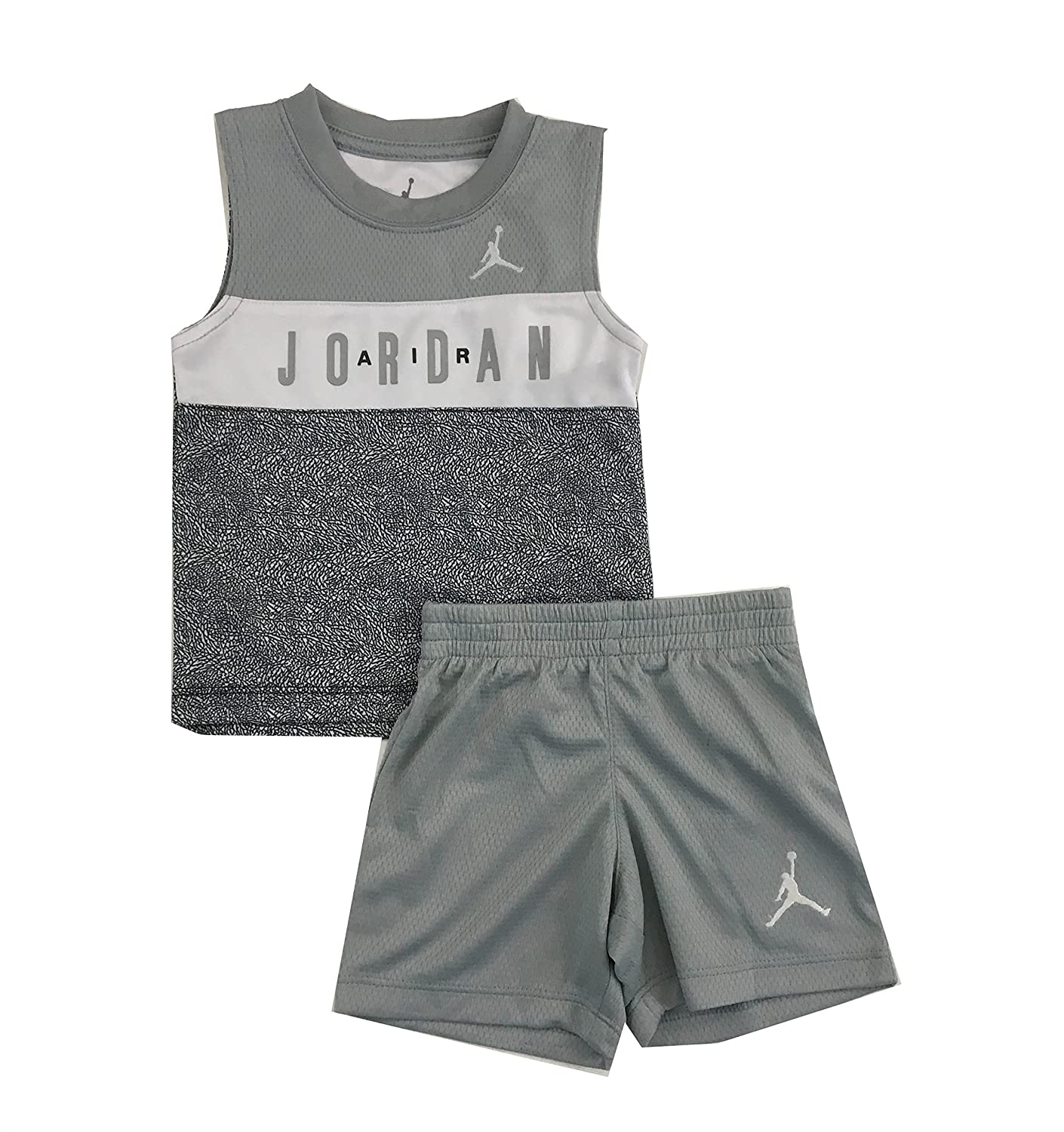 cff07394df9 Amazon.com: Jordan Air Infant Boys Two Piece Tank Top and Shorts Set Wolf  Grey Size 24 Months: Sports & Outdoors