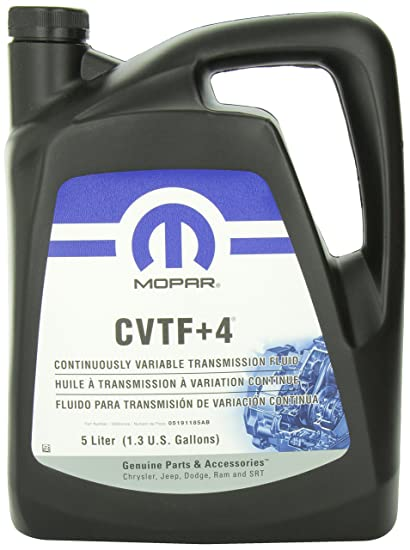 Genuine Chrysler Accessories (5191185AA) CVTF+4 Transmission Fluid -1 3  gallon/5 liter
