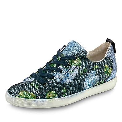 Paul Green 4449-059 Damen Sneaker aus Stylisch Bedrucktem Textil Sportive Sohle