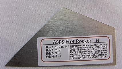 Luthier Tool Fret Level Rocker Type I (Diamond Honed) for Guitar Necks    and Banjo Mandolin Dulcimer Necks fits Martin Gibson Taylor Fender PRS