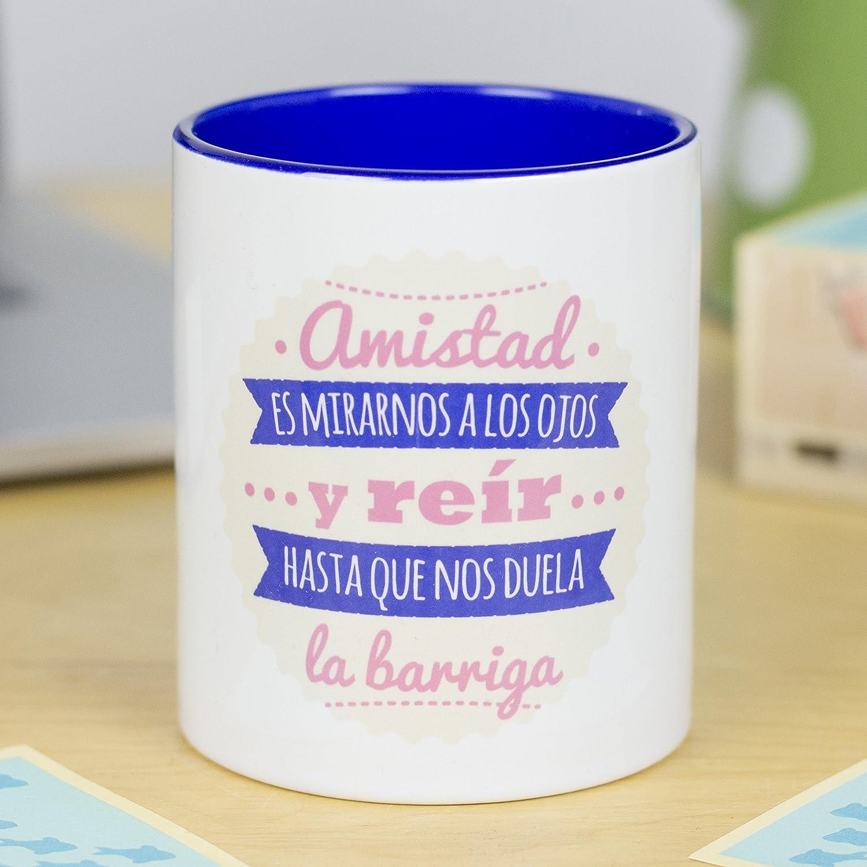 La Mente es Maravillosa Taza con Frase y Dibujo Divertido Las buenas amigas te acompa/ñan siempre en el camino Regalo Original Amigas