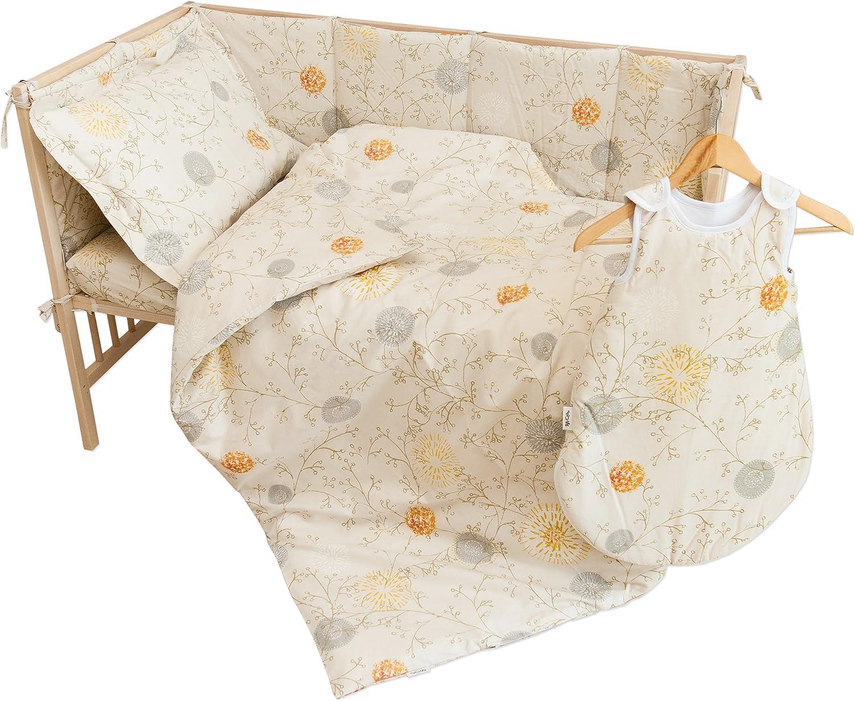 April Lot de 2 draps housse PatiChou 100/% Coton motif fleur pour berceau b/éb/é 50x83 cm