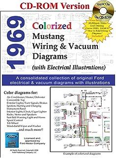 1969 colorized mustang wiring & vacuum diagrams