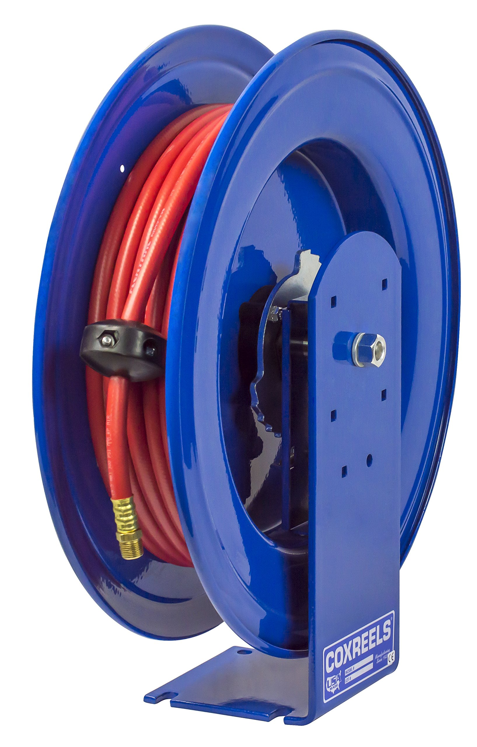 Coxreels EZ-E-LP-430 Safety Series Spring Rewind Hose Reel for air/water: 1/2'' I.D., 30' hose capacity,  300 PSI