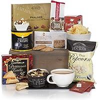 Teatime Delights Hamper - Luxury Food & Tea Gift Hampers for Him or for Her - Birthday & Thank You Hamper