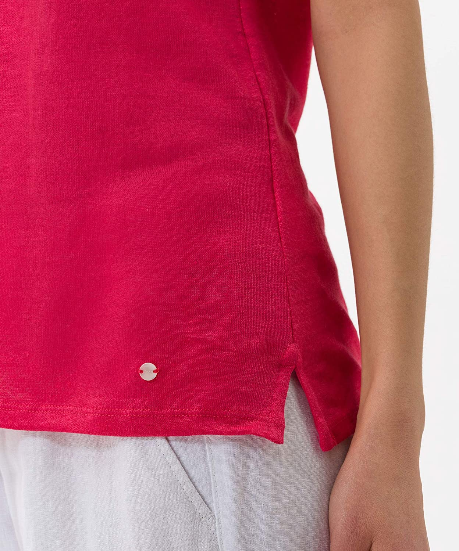 BRAX Cathy Linen T-Shirt Donna Viola (Papaya 85)