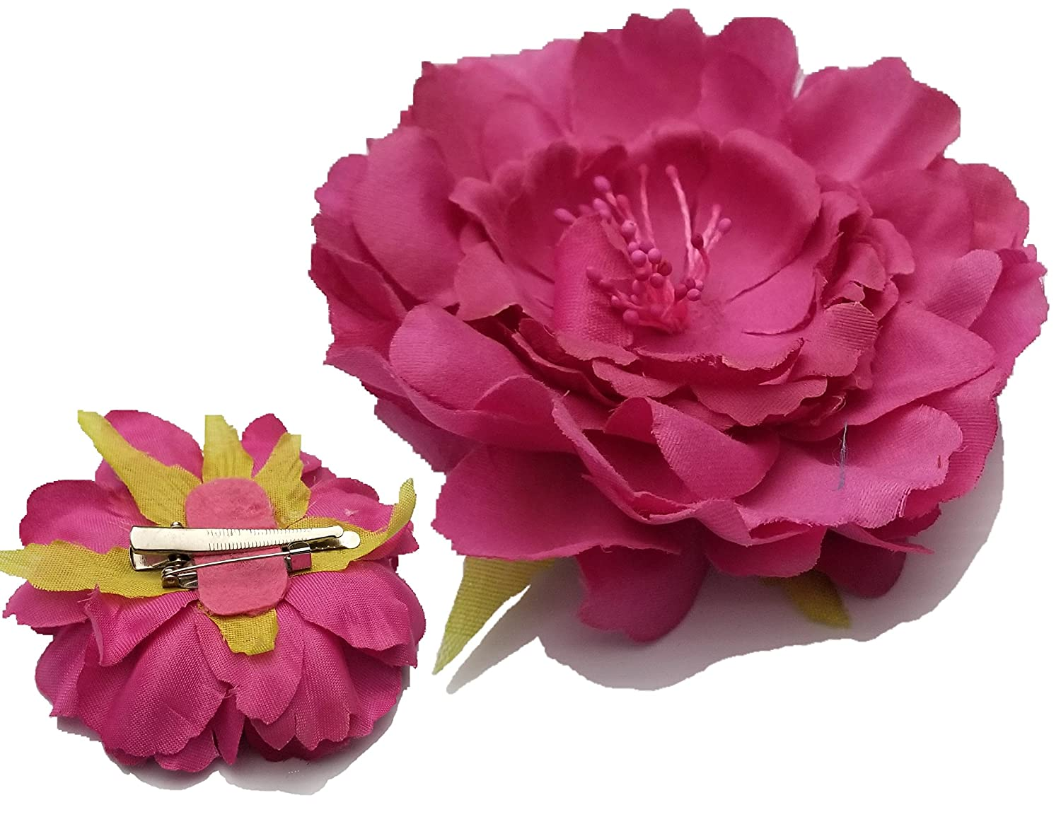 310bebb61 Amazon Com Flower Rose Hair Clips Corsage Brooch Hairpins Hair