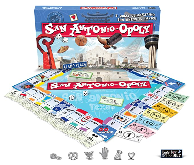 Late For The Sky Sana San Antonio Opoly Brettspiel Amazonde Spielzeug