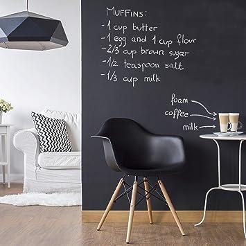 Tafelfolie Küche tafelfolie selbstklebend wohnzimmer diy tafeltapete schwarz