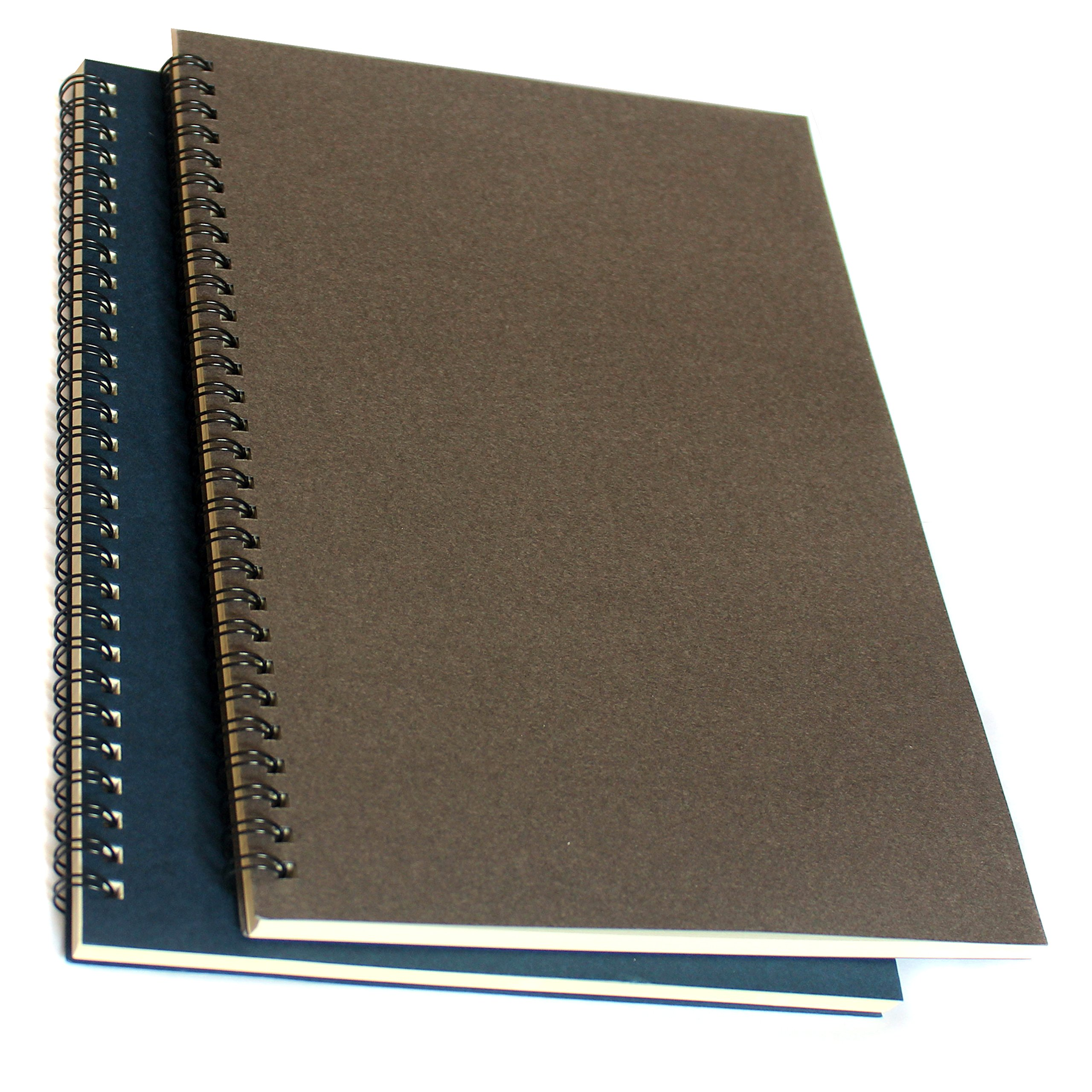Spiral Notebook/Spiral Journal, Spiral Softcover Notebook, Lined Pages, 2 Notebooks Per Pack/Total 120 Sheets (240 Pages)-B5,10.5'' x 7.5''