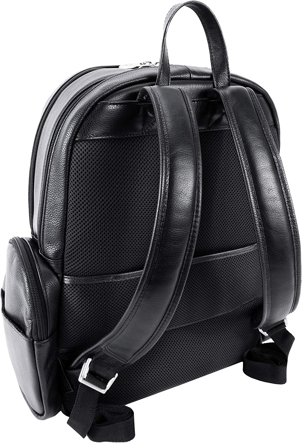 S Series Black McKlein 88365 Pebble Grain Calfskin Leather 15 Leather Dual Compartment Laptop Backpack Cumberland