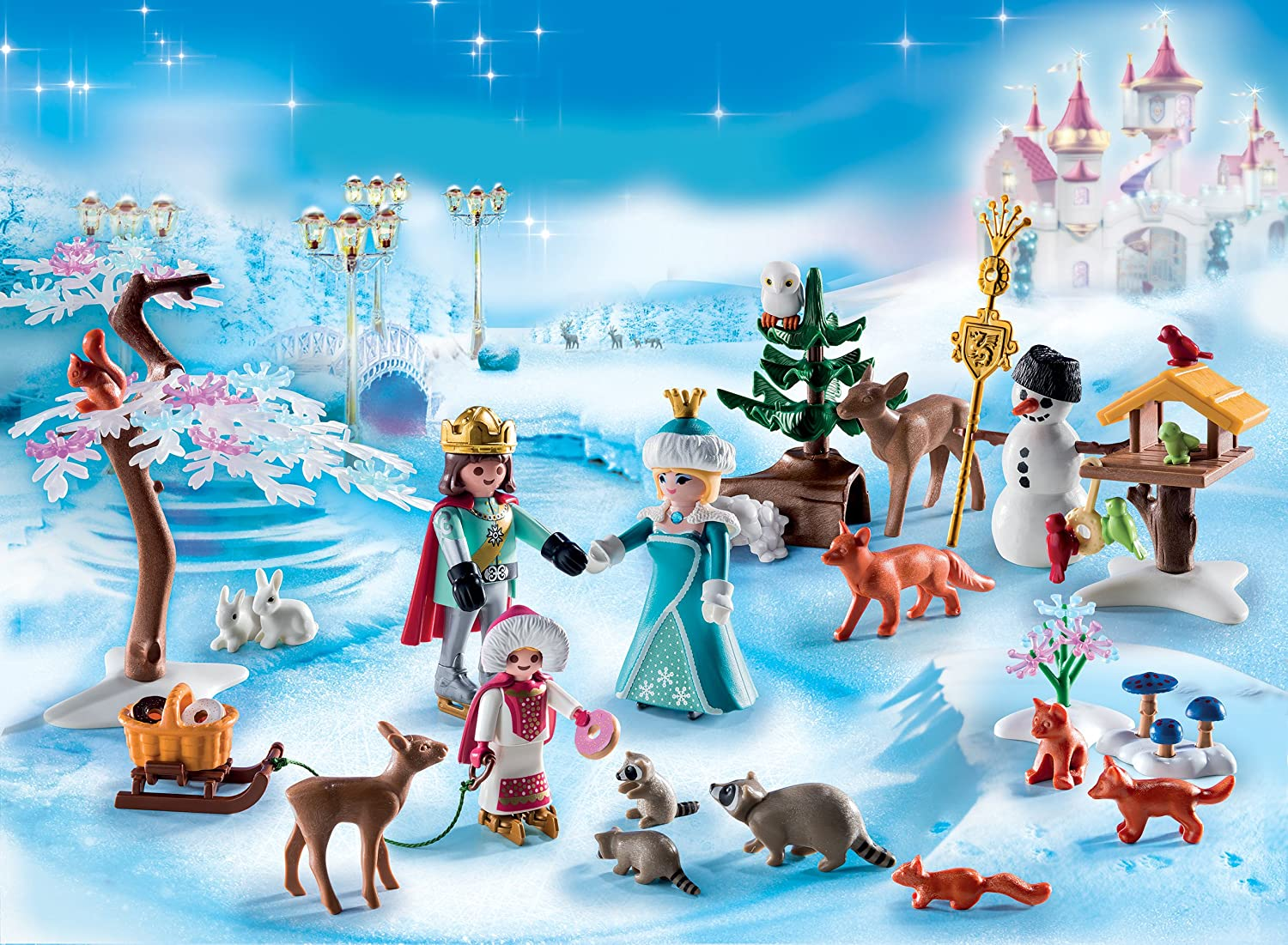 PLAYMOBIL 9008 Royal Ice Skating Trip advent calendar girl toys