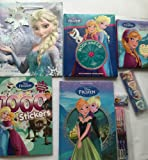 Disney Frozen Mega 7 Piece Bundle Kids Activity Books Fun Pack includes Story CD Reading Writing Colouring Puzzles Games Stickers and More includes Gift Bag ideal gift for Easter and Great Saving on Full Retail Value £33.99
