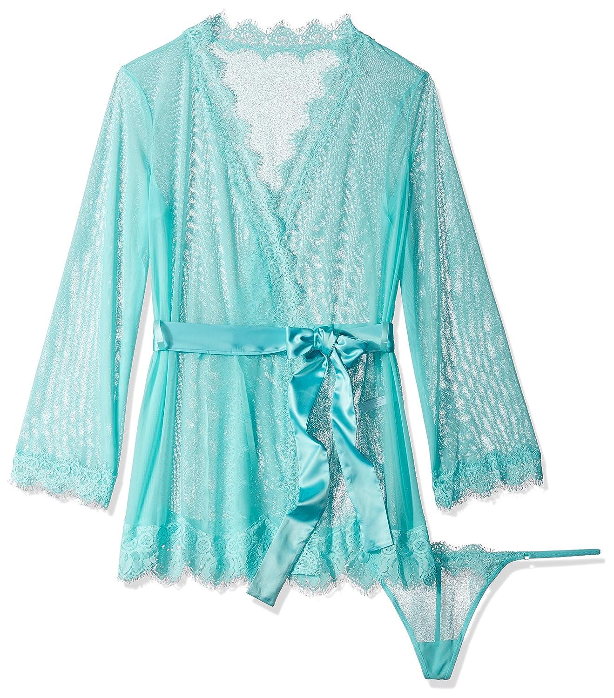 a78674b668 Amazon.com  Oh la la Cheri Women s Plus-Size Eyelash Lace Robe and G-String   Clothing