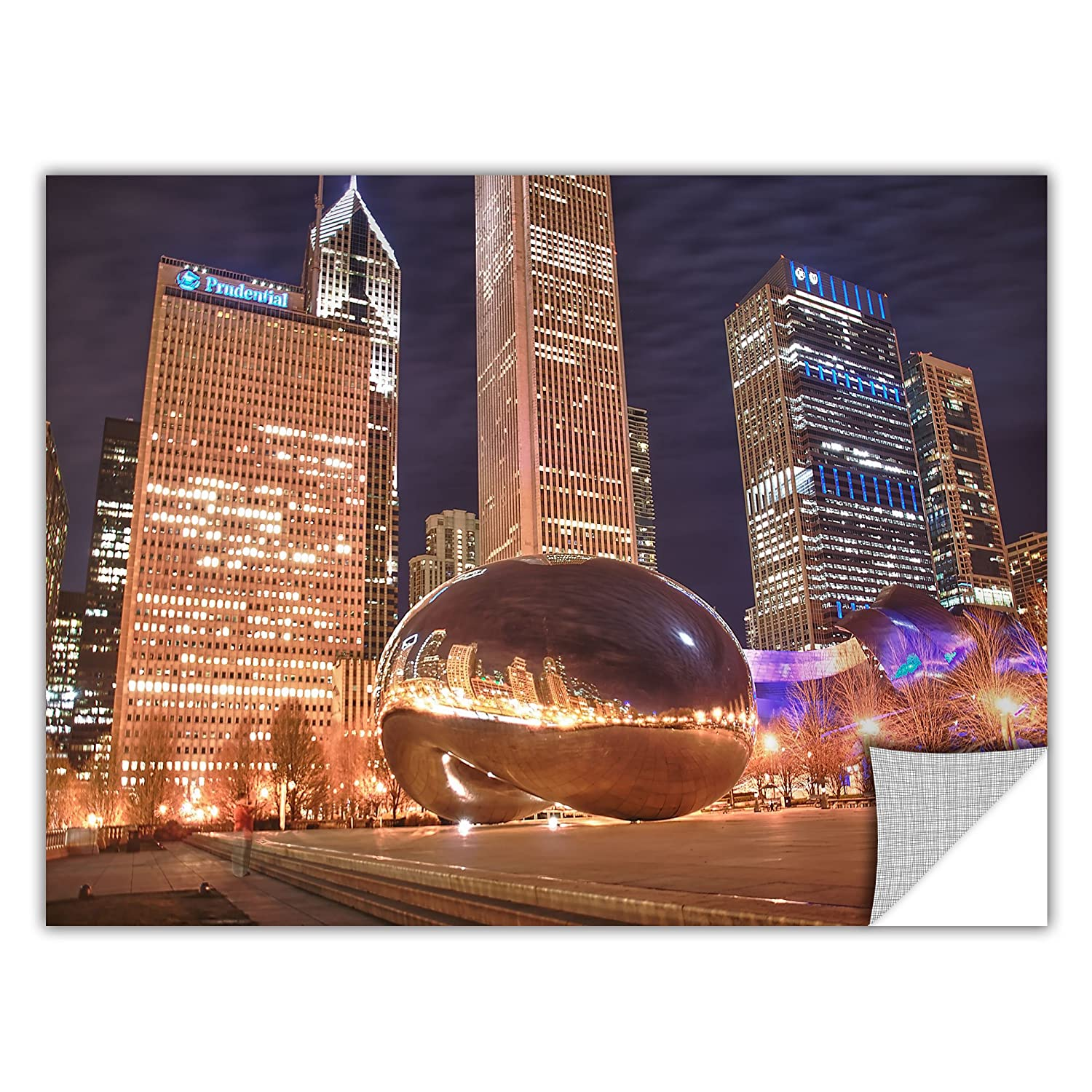 ArtWall Chicago-The Bean I Removable Graphic Wall Art by Dan Wilson 12 by 18-Inch