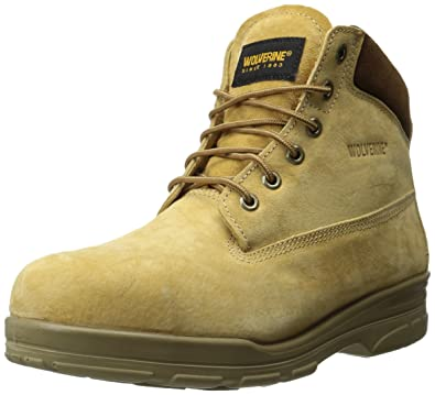 a4eaaad86a9 Wolverine Men's Waterproof Dura Steel 6 Inch Work Boot